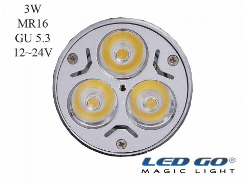 MR16 3W 12/24VDC GU5.3 IGNE AYAKLI LED LAMBA