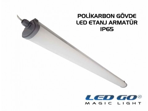 LET-50PCE LED POLIKARBON ETANJ ARMATÜR ,1520mm 50W,220V,IP65