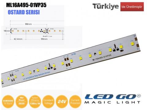 ML16A495-01VP35 | 2835 LEDBAR-50CM-70LED/M-24VDC CEM1 PCB 16mm OSRAM/SAMSUNG LED