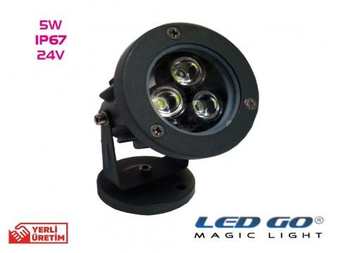 MINI LED SPOT,5W,24V AC- DC, IP67