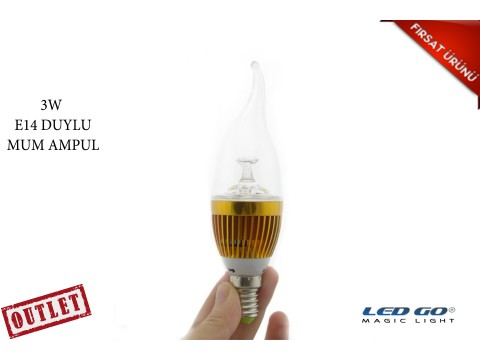 3W LED MUM AMPÜL-E14 DUYLU-24V DC