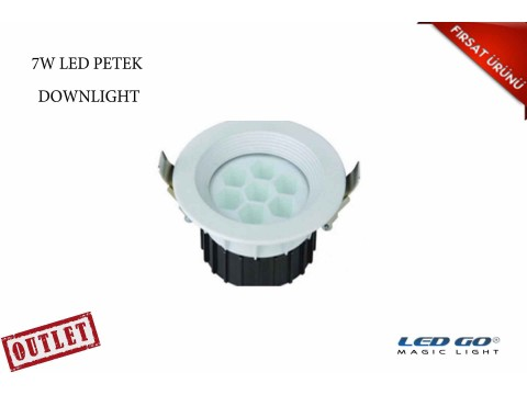 7W YUVARLAK PETEK LED DOWNLIGHT