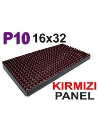Kırmızı P10 panel dışmekan tek renk