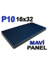 Mavi P10 panel dışmekan tek renk