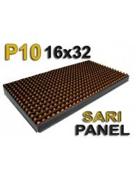 Sarı P10 panel dışmekan tek renk