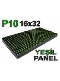 Yeşil P10 panel dışmekan tek renk