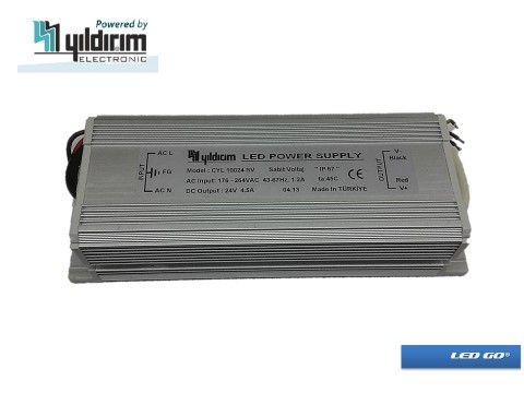 CYL 100 SERISI SABIT VOLTAJ LED SURUCU 100W 24VDC IP67