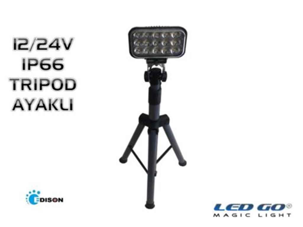 Led Go®PPS-30-24V 30W Taşıt tipi Tripod Ayaklı Led Projektör/spot 12/24Vdc