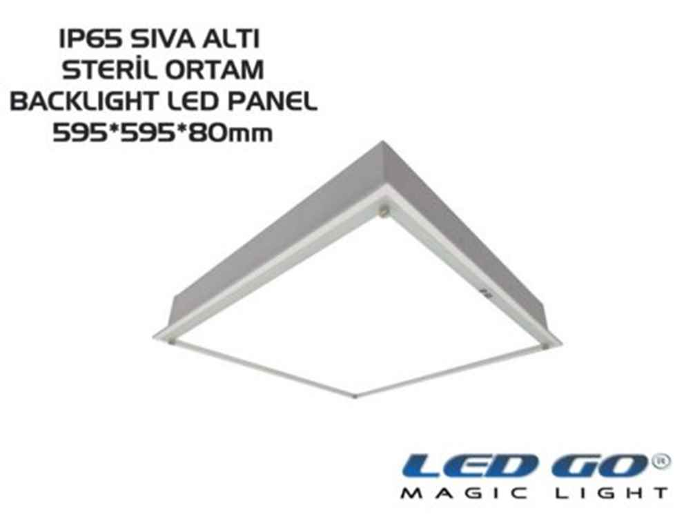 LED GO® SIVA ALTI IP65 BACKLIGHT LED ARMATÜR 595*595mm 40W