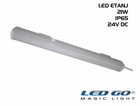 LED Polikarbonat Gövdeli Etanj Armatür, 24V DC, IP65 (51,101cm Özel boy)