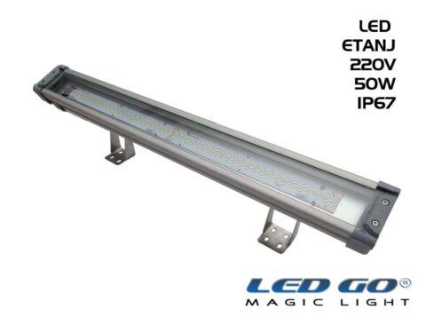 Led Go®LET-50A ,Temperli Camlı LED Etanj Armatür, 50W,220V,IP67